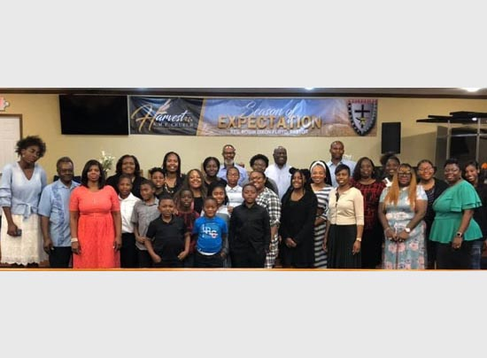 large group of Harvest AME Church members